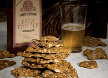 Beer Brittle with Spanish Peanuts, by Anette's Chocolates